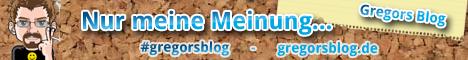 Banner Gregors Blog - gregorsblog.de