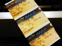 """Meine Eintrittskarten zum """"Triple-Feature"""""""
