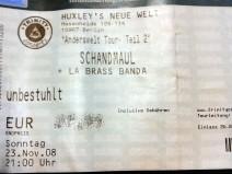 Ein Foto meiner Eintrittskarte vom angesprochenen Schandmaul-Konzert