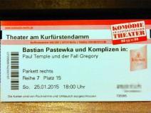 Meine Eintrittskarte zur Aufführung im Theater am Kurfürstendamm