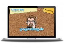 Bild eines Notebooks mit Wallpaper von gregorsblog.de