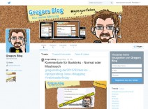 Screenshot des twitter-Kanals von Gregors Blog
