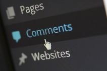 Ein Screenshot aus dem Backend eines WordPress-Systems mit dem Fokus auf dem Menü-Punkt Comments