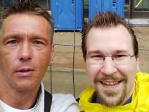 Leser und eifriger Kommentator Broti mit meiner Wenigkeit bei seinem Berlinbesuchm
