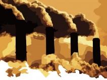 Grafik rauchender Industrieschornsteine