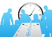 Uhr, Menschen, Terminkalender