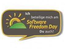 """Logo: """"Ich beteilige mich am Software Freedom Day Du auch?"""""""