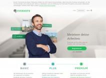 Screenshot der Startseite von evernote.com