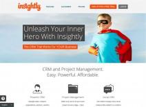 Screenshot der Startseite von insightly.com