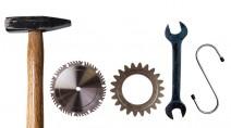 """Das Wort """"Tools"""" aus Werkzeugen gebildet"""