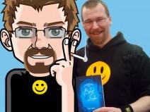 Montage: Mein Avatar links, ich rechts. Jeweils nahezu gleich gekleidet.