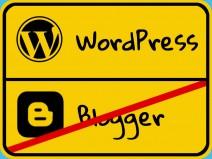 Ortschild: Blogger endet, WordPress beginnt