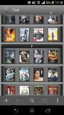 Screenshot meiner digital erfassten DVD-Sammlung