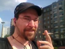 Ein Selfie von mir auf dem Weg in den Feierabend