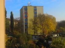 Foto vom alten Balkon aufgenommen und den neuen im Bild markiert