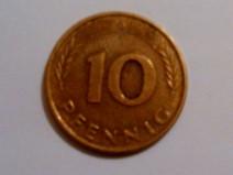 Foto von einem 10 Pfennig Stück, auch einst liebevoll Groschen genannt