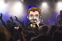 Grafik von meinem Avatar als Sänger auf einem Konzert