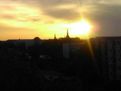 Foto von meinem Balkon aus bei Sonnenschein