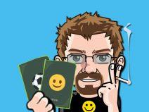 Grafik: Mein Comic-Ich mit zwei Pässen in der Hand