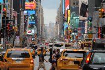 Ein Foto aus dem Stadtverkehr von New York