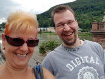 Vio und ich in Heidelberg