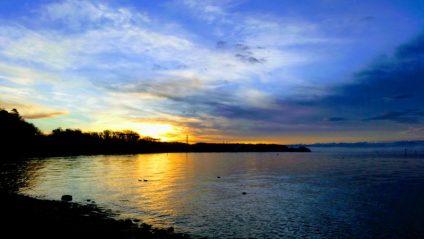 Foto vom Sonnenaufgang am Bodensee