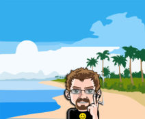 Grafik: Mein Comic-Ich auf einer einsamen Insel