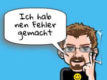 """Grafik: Mein Comic-Ich sagt """"Ich hab nen Fehler gemacht"""""""