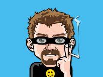 Grafik: Mein Comic-Ich mit einer schwarzen Maske vor die Augen gebunden