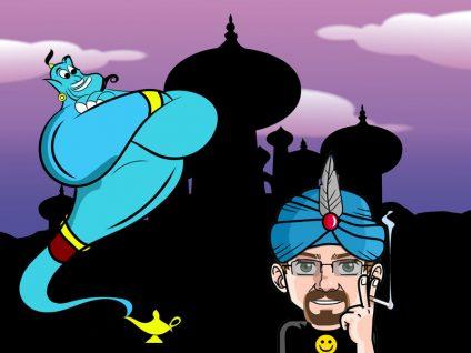 Grafik von meinem Comic-Ich im Zeichentrickfilm Aladdin