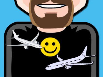 Grafik: Bauch meines Comic-Ichs mit zwei Flugzeugen