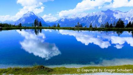 Foto: Ausblick beim Wandern in Seefeld, Tirol