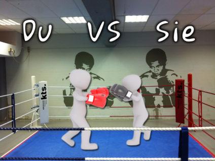 Grafik: Zwei gesichtslose Menschenfiguren boxen in einem Boxring gegeneinander