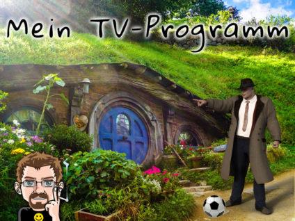 Grafik: Den Hintergrund bildet eine Hobbit-Höhle a la Herr der Ringe. Davor steht ein Kommissar. Zu seinen Füßen liegt ein Fußball.