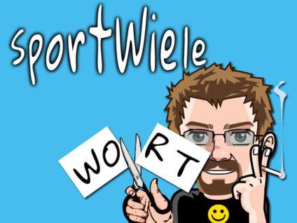 """Grafik: Mein Comic-Ich zerschneidet einen Zettel auf dem """"WORT"""" steht. Über allem steht die Überschrift """"SportWiele"""""""