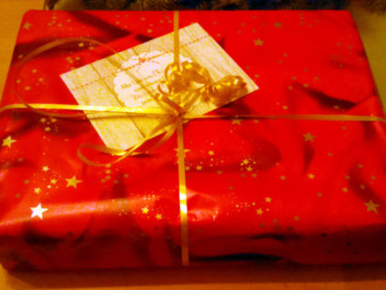 Foto: Ein von mir verpacktes Geschenk